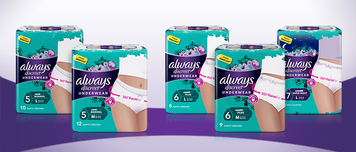 Incontinence pants by ALWAYS DISCREET