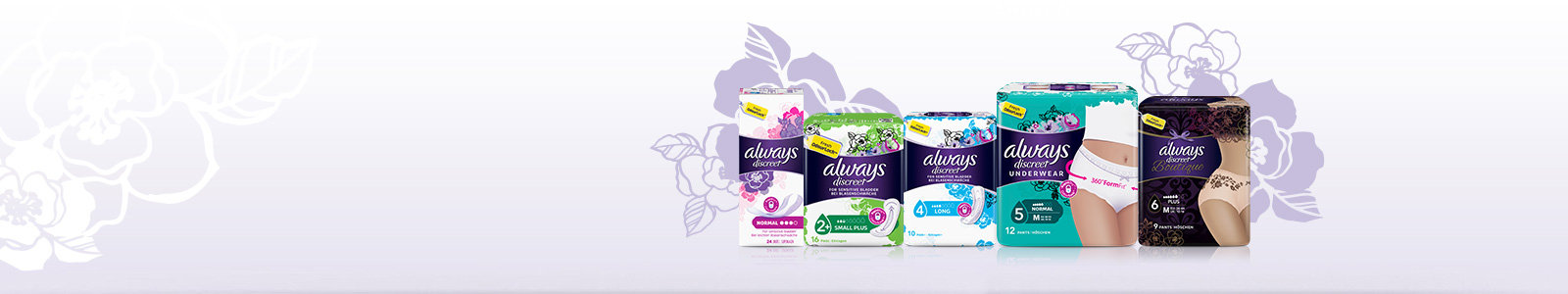 ALWAYS DISCREET incontinence products