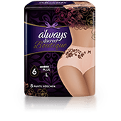 ALWAYS DISCREET Boutique Underwear for Sensitive Bladder Large