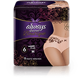 ALWAYS DISCREET Boutique Underwear for Sensitive Blad