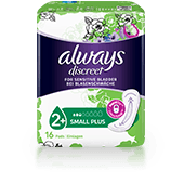 ALWAYS DISCREET Incontinence Pads Small Plus