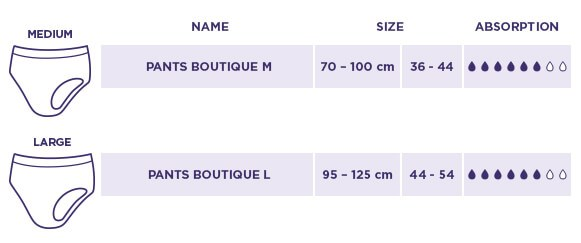 Boutique Size Chart