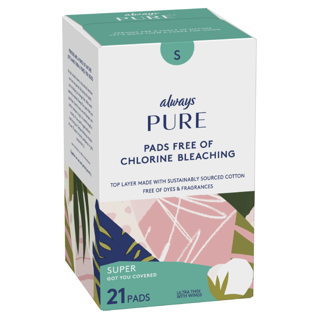 Always Pure: Sustainably-Sourced Cotton Menstrual Pads | Always®