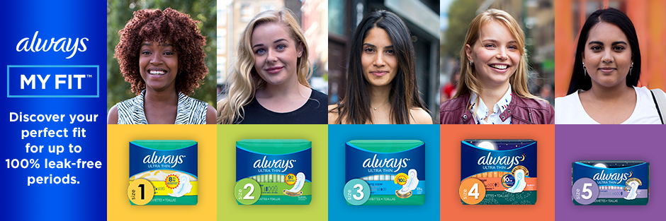 Always Menstrual Pads Shop Products