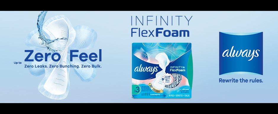 Always Infinity Pads with Flex Foam | Always®