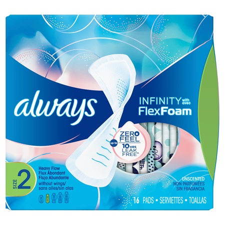 Always Infinity Size 2 Heavy Pads Non-Wing | Always®