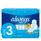 Always Maxi Size 3 Extra Long Super Pads with Wings, Unscented