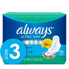 Always Ultra Thin Size 3 Extra Long Super Pads With Wings, Unscented