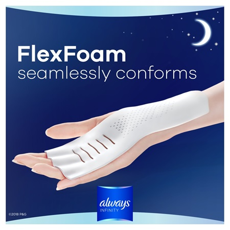 Always Infinity Size 5 Extra Heavy Overnight Pads With Wings Always