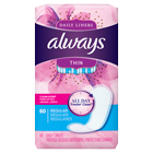 Always Thin Daily Liners, Clean Scent