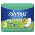Always Ultra Thin Size 2 Long Super Pads Without Wings Unscented