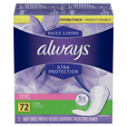Always Xtra Protection Daily Liners, Long, Clean Scent