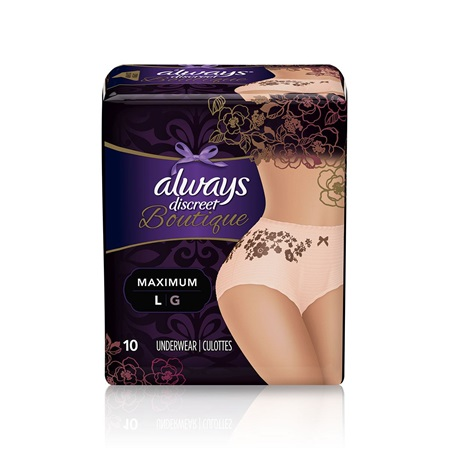 4b9a9c1898e2f Always Discreet Boutique Large 10 · Beautifully designed · Super absorbent  ...