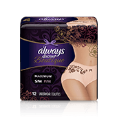 Always Discreet Boutique Incontinence Underwear S/M