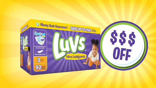 image relating to Printable Luvs Coupons called Diaper Discount codes Discounts Discounts - Luvs Diapers