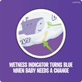 Wetness Indicator Turns Blue When Baby Needs a Change