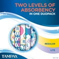 Tampax Pearl Active Duo Light Regular Two Levels of Absorbency