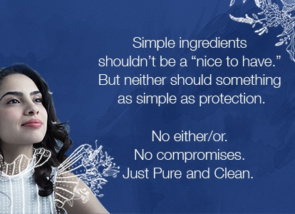 Tampax Pure and Clean Banner