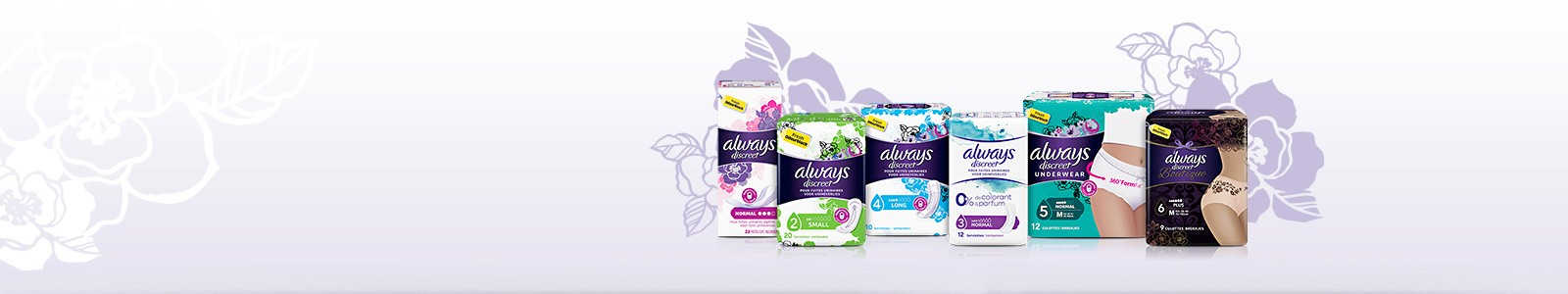 Protection incontinence urinaire - ALWAYS DISCREET