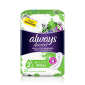 Serviettes incontinence Small ALWAYS DISCREET