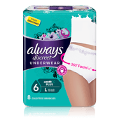 Culottes pour incontinence ALWAYS DISCREET - taille L