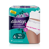 ALWAYS DISCREET Culottes Incontinence Plus - taille M