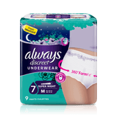 Culottes incontinence ALWAYS DISCREET Super Night - taille M