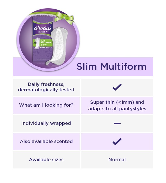 ALWAYS Slim Multiform