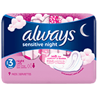 ALWAYS Sensitive Night Ultra (Taille 3) Serviettes hygiéniques avec ailettes